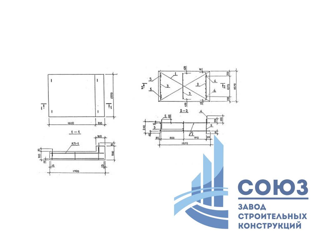 Фундамент УФП-1. Серия 1.020-1:87