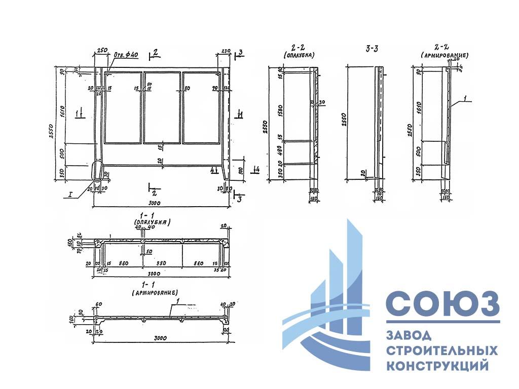 Панель 1ПБ30.20 . Серия 3.017-3