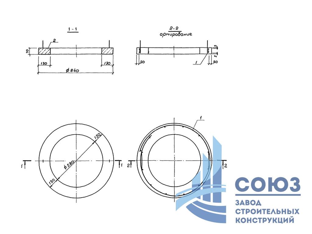 Кольцо опорное КО-4 Серия 3.900.1-14 выпуск 1