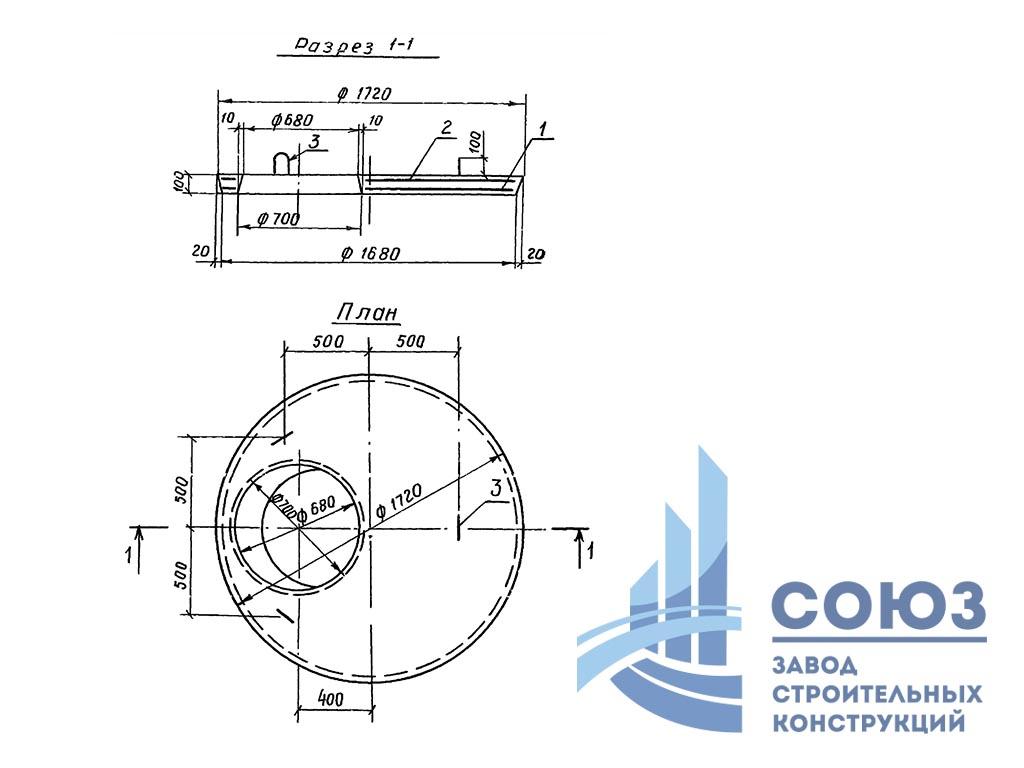 Плита перекрытия железобетонная ПП15-2-1В. Серия 3.820-23 выпуск 2