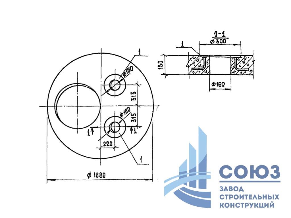 Плиты перекрытия КЦП 1-15-2 а. Серия ТП 902-2-356